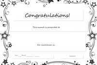 Congratulations Certificate Word Template  Erieairfair With Regard for Congratulations Certificate Word Template