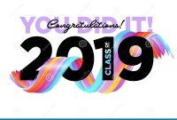Congratulations Graduates Class Of  Vector Logo Graduation with Congratulations Banner Template