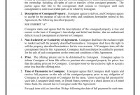 Consignment Agreement Examples  Pdf Doc  Examples with Simple Consignment Agreement Template