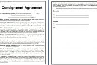 Consignment Contract Template  Template Business regarding Simple Consignment Agreement Template