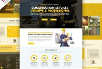 Construction Company Website Template Free Psd    Free Website throughout Business Website Templates Psd Free Download