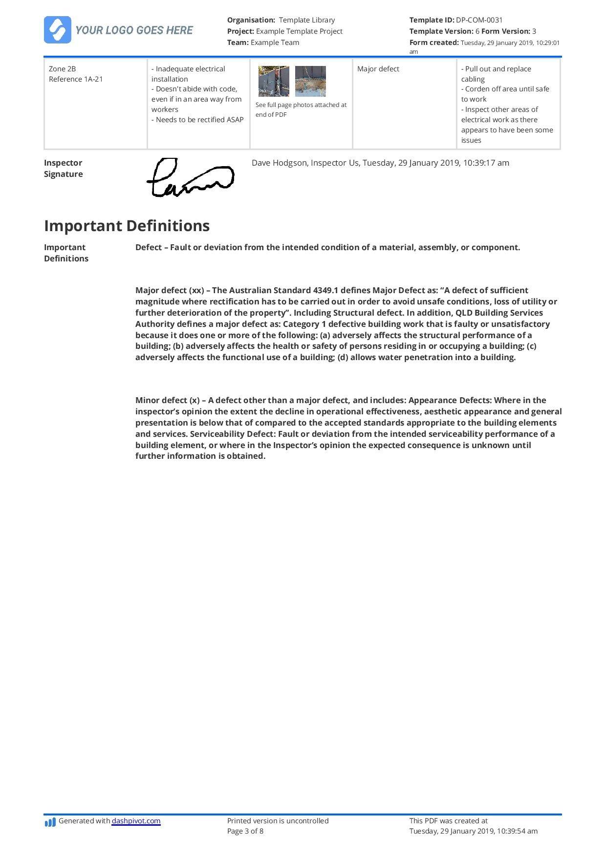 Construction Expert Witness Report Example And Editable Template Regarding Expert Witness Report Template