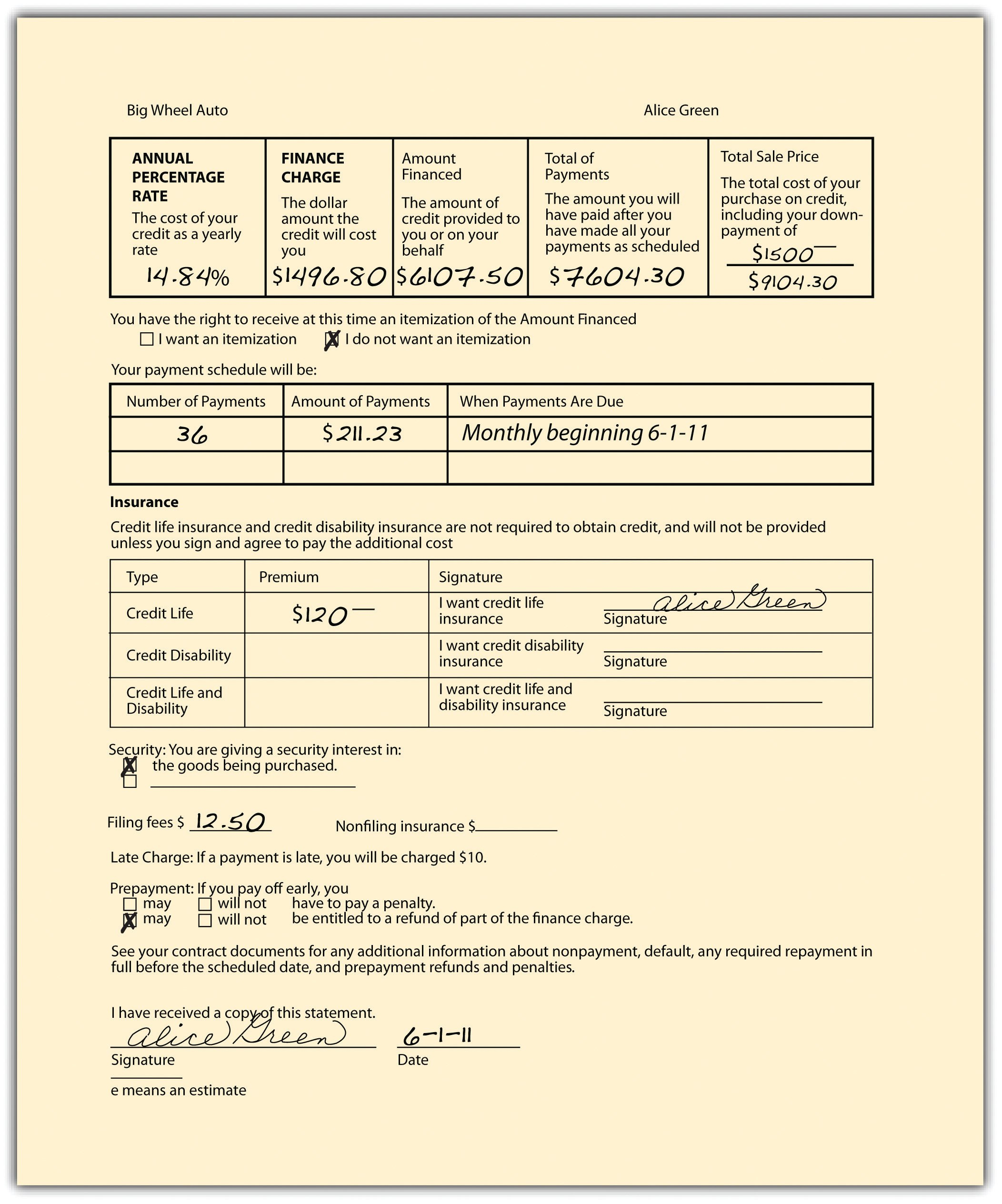Consumer Credit Transactions Inside Credit Sale Agreement Template