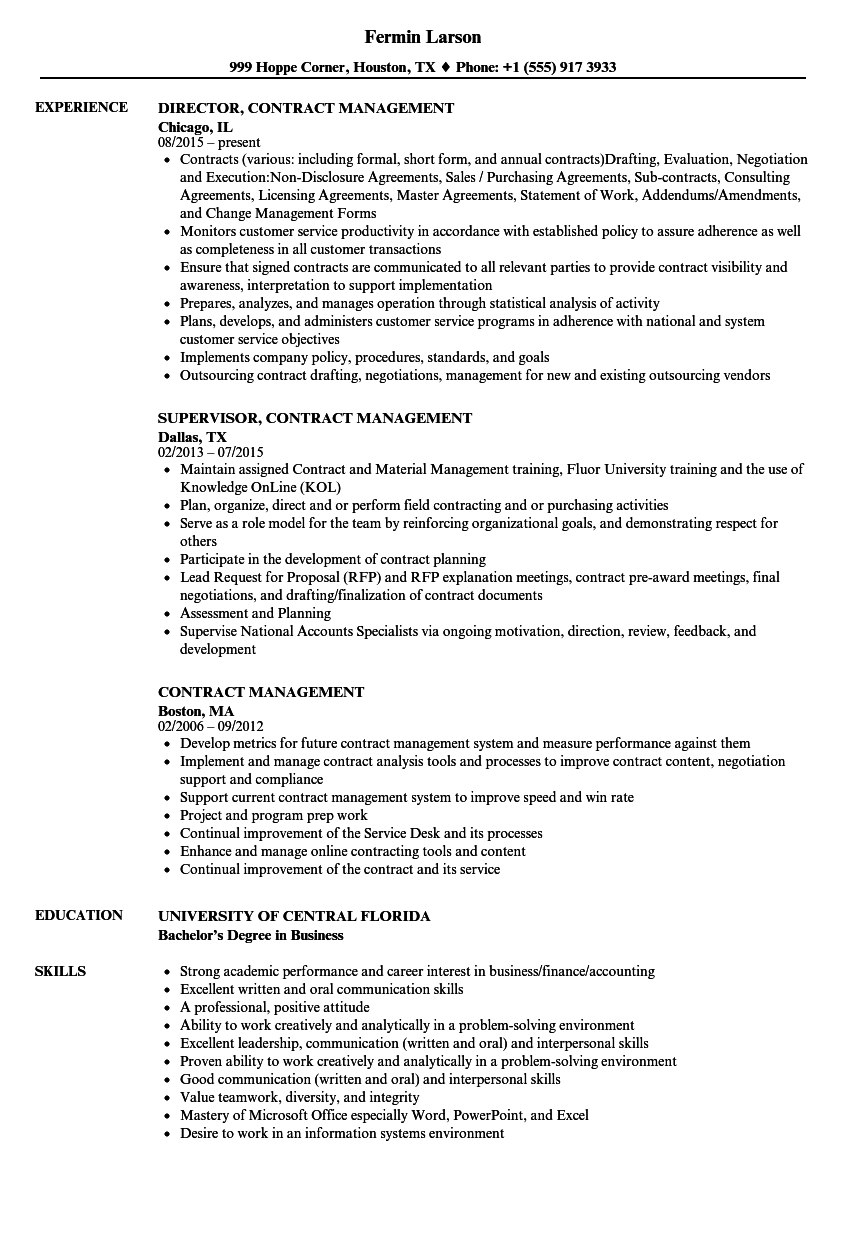 Contract Management Resume Samples  Velvet Jobs Within Pharmaceutical Supply Agreement Template