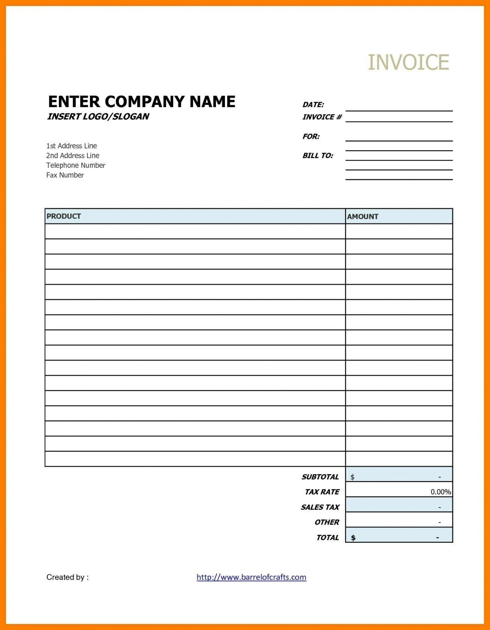 Contractor Invoice Template Plan Excellent Templates Google Docs Throughout Invoice Template Google Doc
