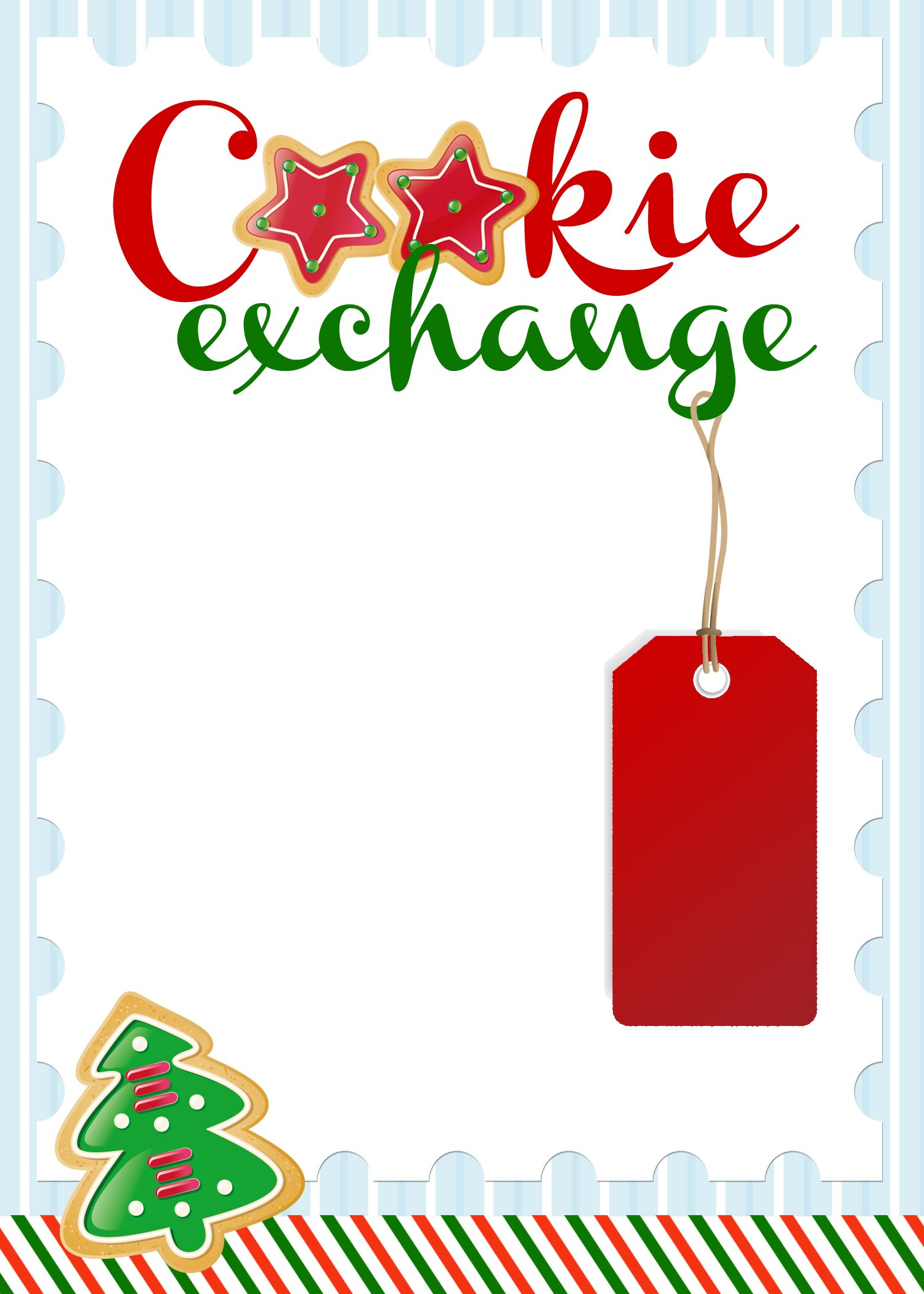 Cookie Exchange Party Free Printables  How To Nest For Less™ Within Cookie Exchange Recipe Card Template