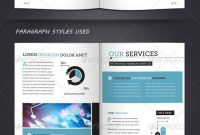 Corporate Brochure Template A  Letter  Pages  Graphicriver Item Regarding 12 Page Brochure Template