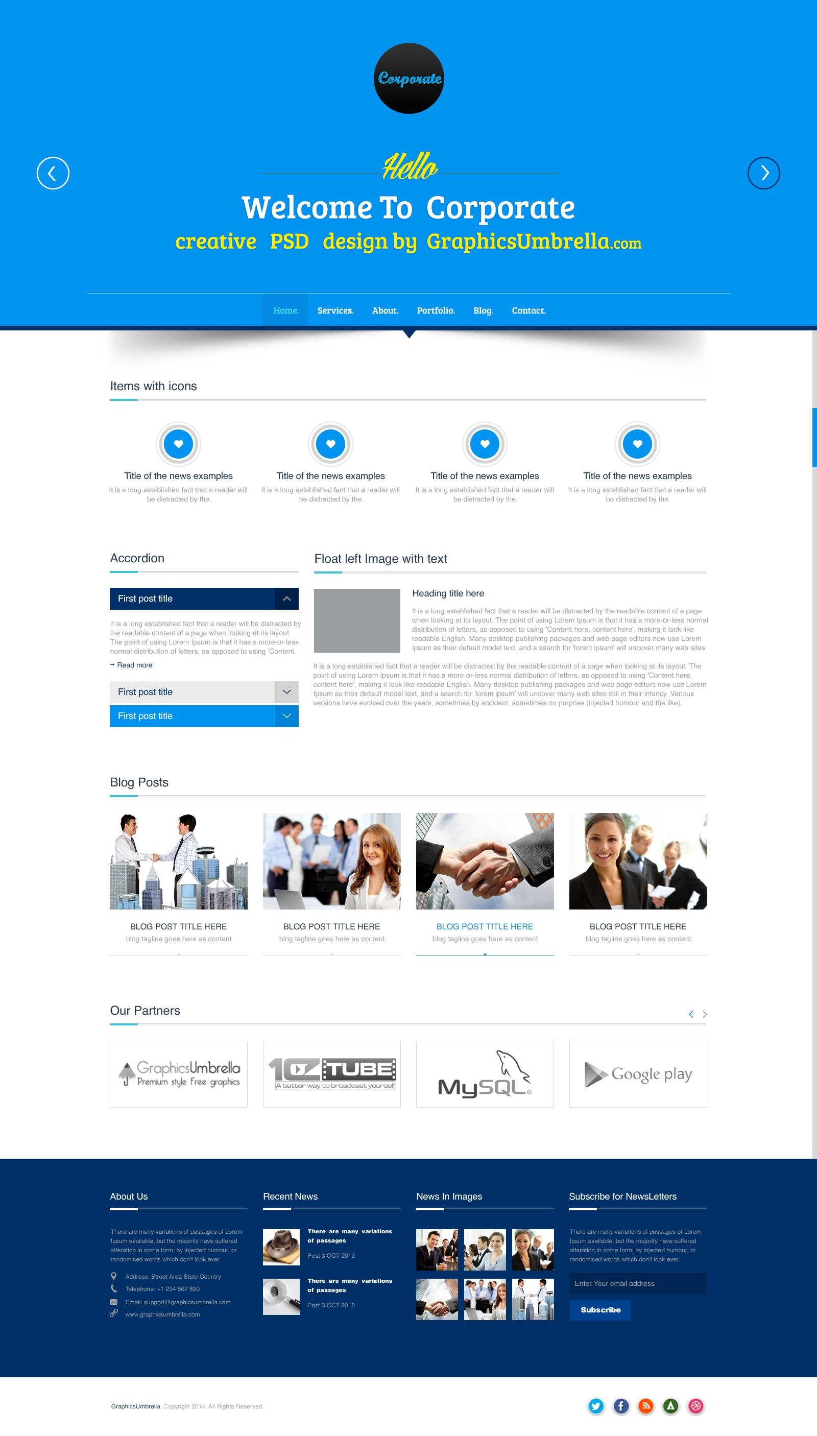 Corporate Business Psd Website Template  Designs Canyon  Website Regarding Free Psd Website Templates For Business