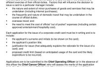 Corporate Credit Card Agreement Template  Mandegar in Corporate Credit Card Agreement Template