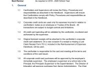 Corporate Credit Card Procedures Manual A in Company Credit Card Policy Template