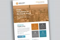 Corporate Flyer Design In Microsoft Word Free  Used To Tech Pertaining To Free Business Flyer Templates For Microsoft Word