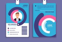Corporate Id Card Professional Employee Identity Vector Image regarding Sample Of Id Card Template