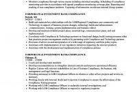 Corporate  Investment Bankcompliance Resume Samples  Velvet Jobs inside Legal Compliance Register Template