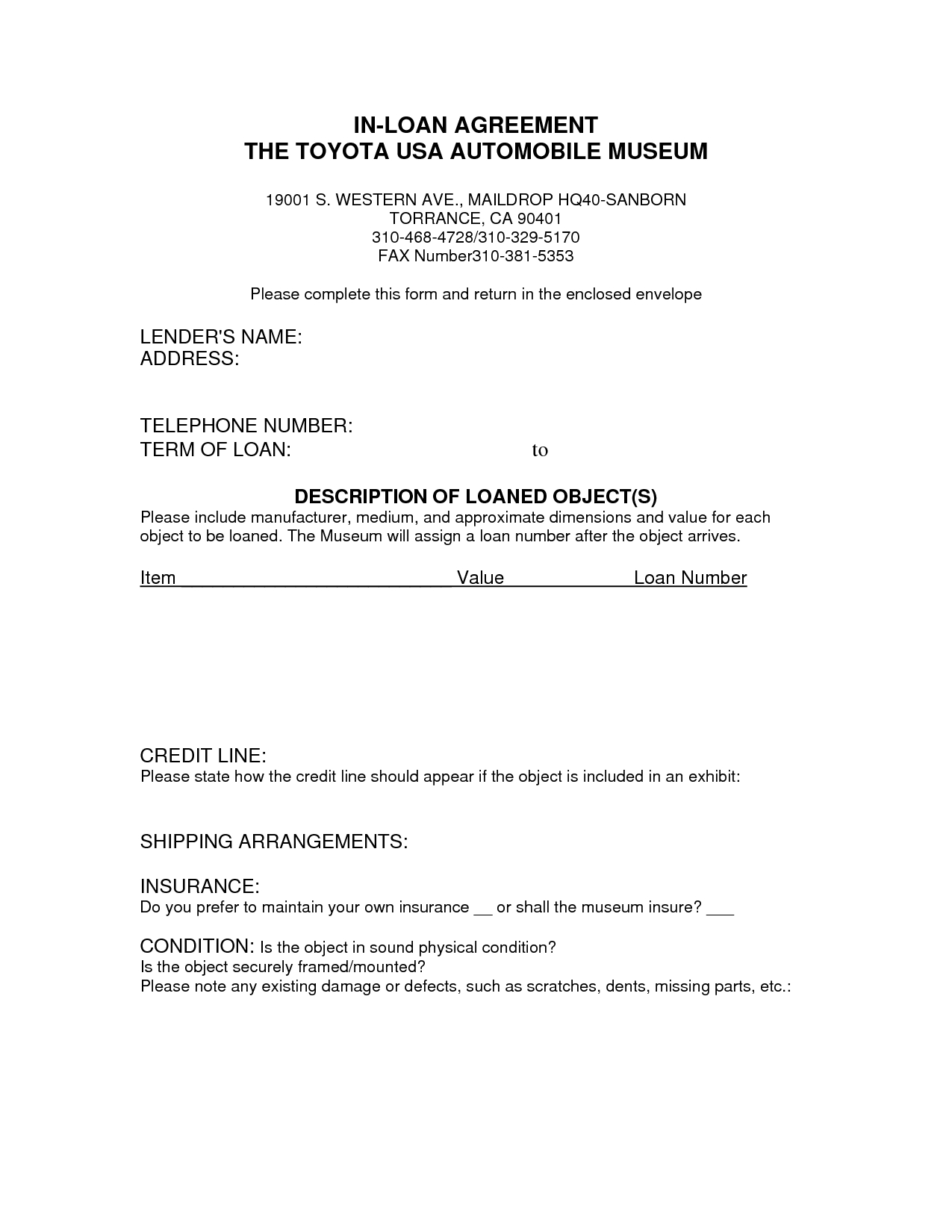 Corporate Loan Agreement Form  Car Payment Contract Template  Real With Line Of Credit Loan Agreement Template