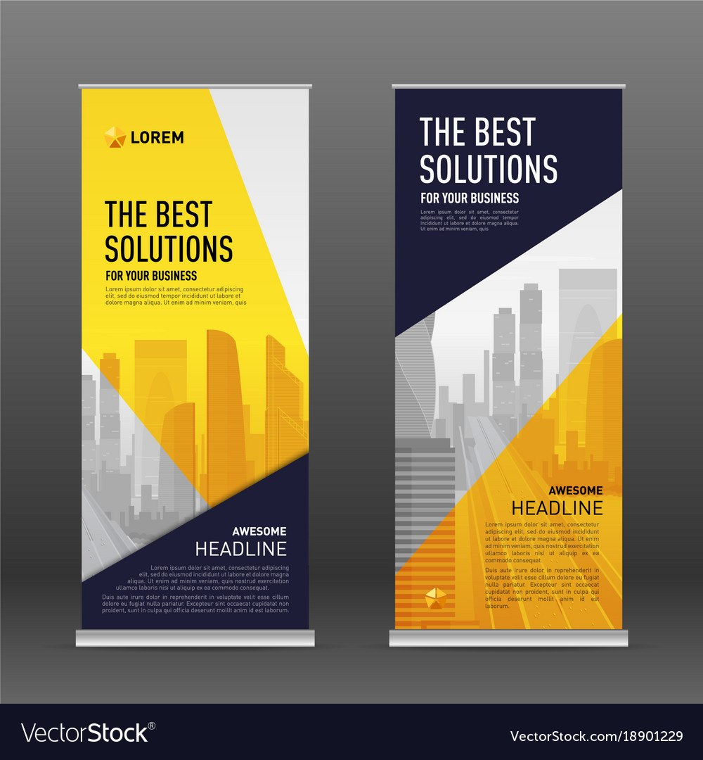 Corporate Roll Up Banner Design Template Vector Image Within Pop Up Banner Design Template