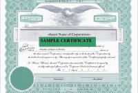 Corporate Stock Certificates Template Free Lovely Downloadable Stock regarding Corporate Share Certificate Template