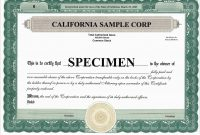 Corporate Stock Certificates Template Free New Blank Free Mon Stock in Corporate Share Certificate Template