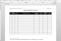 Corrective Action Log Iso Template in Corrective Action Report Template