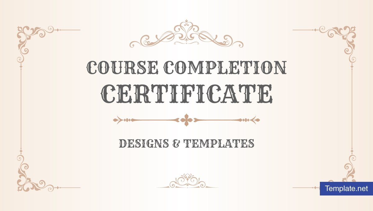 Course Completion Certificate Designs  Templates  Psd In Free Training Completion Certificate Templates