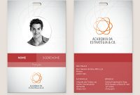 Crachá De Identificação On Behance  Design Inspirations  Badge intended for Personal Identification Card Template