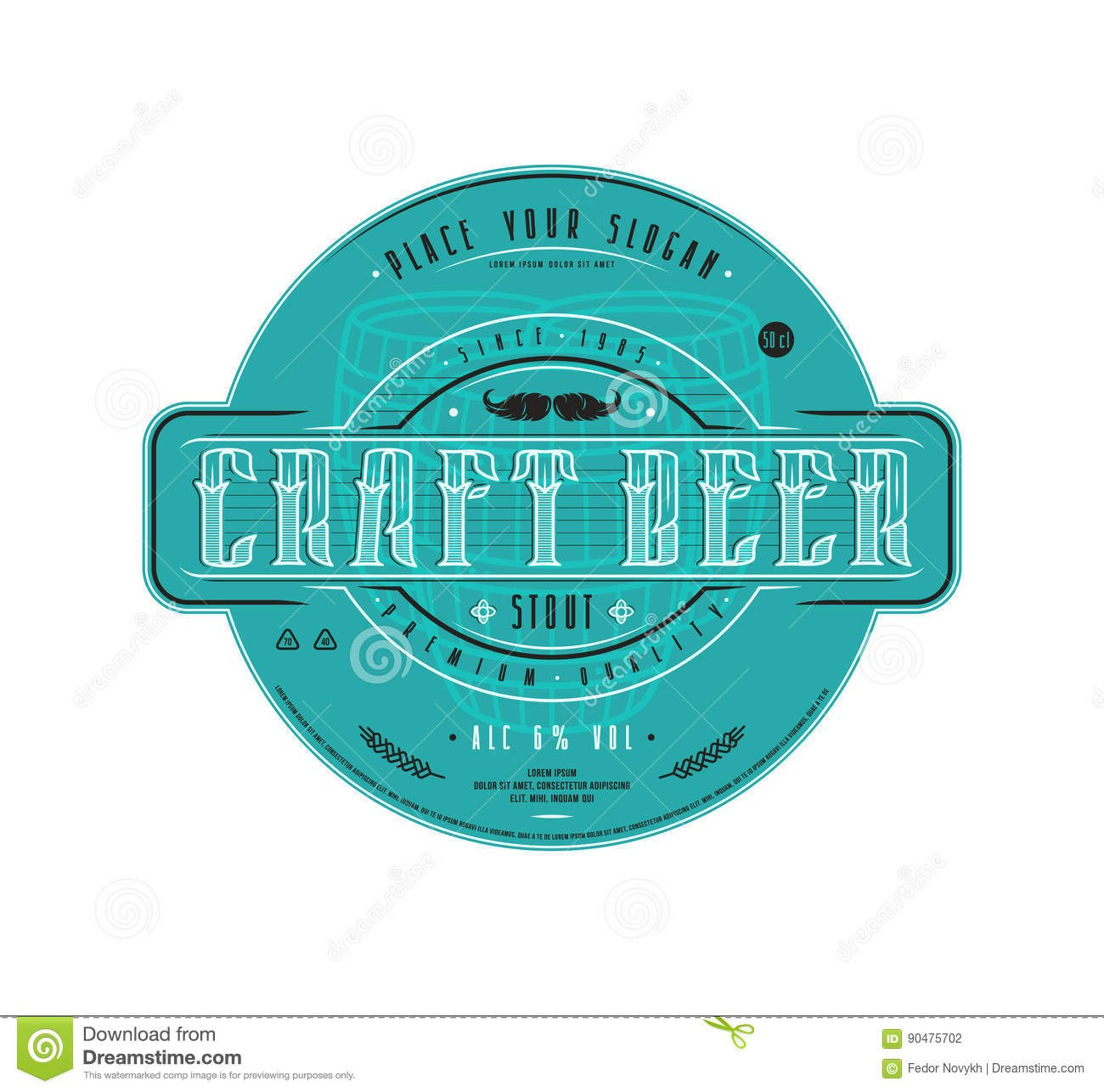 Craft Beer Label Template In Vintage Style Stock Vector In Craft Label Templates
