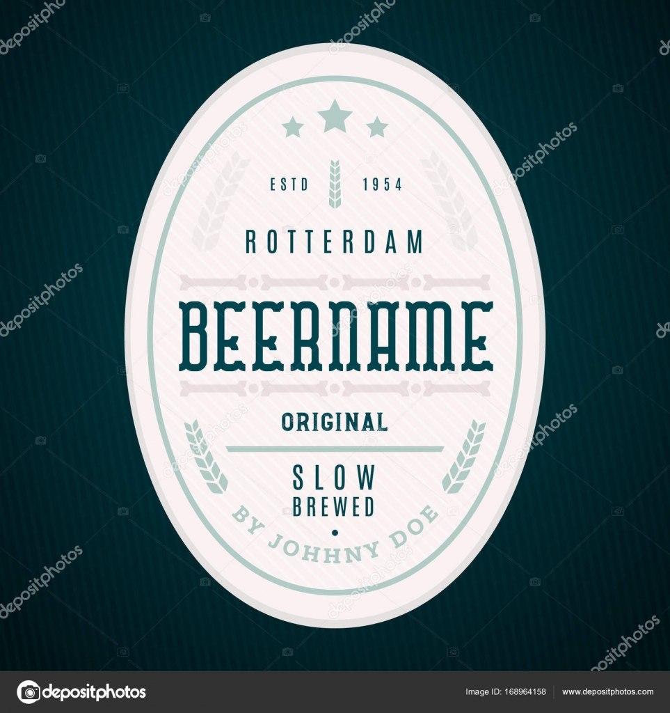 Craft Beer Label Template Modern Label Design — Stock Vector In Craft Label Templates