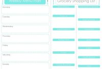 Craft Sew Create Free Printable Menu Plan  Shopping List pertaining to Menu Planner With Grocery List Template