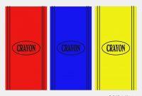 Crayon Labels Template  Unbelievable Printable Wrapper  – Label within Crayon Labels Template