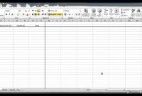 Create A Bookkeeping Spreadsheet Using Microsoft Excel  Part Inside Excel Template For Small Business Bookkeeping