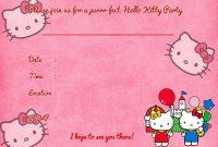 Create Amazing Birthday Invitation Card Template Hello Kitty in Hello Kitty Birthday Card Template Free