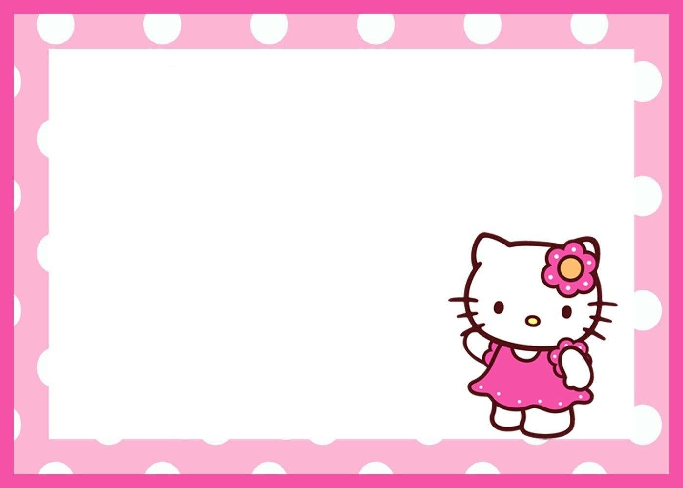 Create Amazing Birthday Invitation Template Hello Kitty Creative With Regard To Hello Kitty Birthday Card Template Free