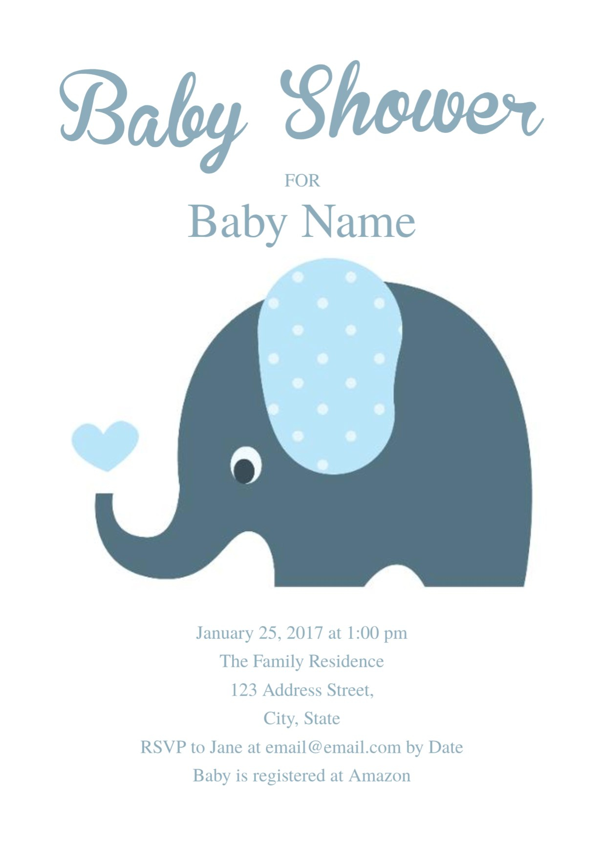 Create Amazing Elephant Blank Invitation Template Designs And Within Blank Elephant Template