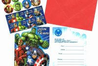 Create Avengers Birthday Theme Invitation Cards Envelopes Party Etsy regarding Avengers Birthday Card Template
