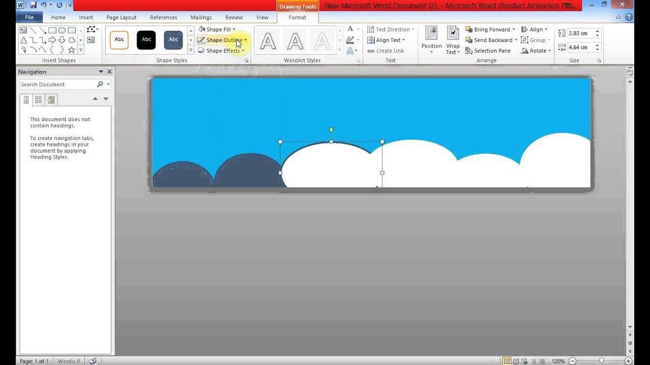 Create Banner Using Ms Word  Youtube Regarding Banner Template Word 2010