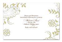 Create Custom Blank Wedding Invitation Design Templates To Meet in Free E Wedding Invitation Card Templates