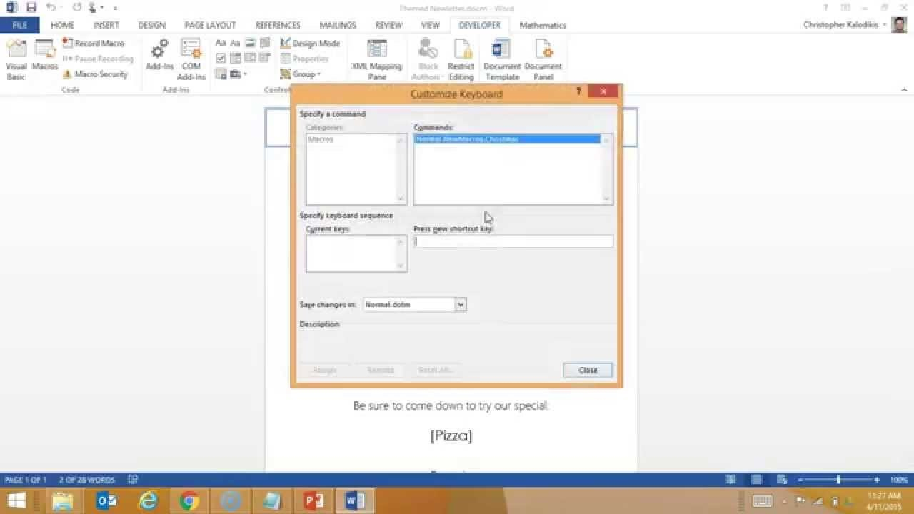 Creating A Macro Enabled Template In Word Inside Word Macro Enabled Template