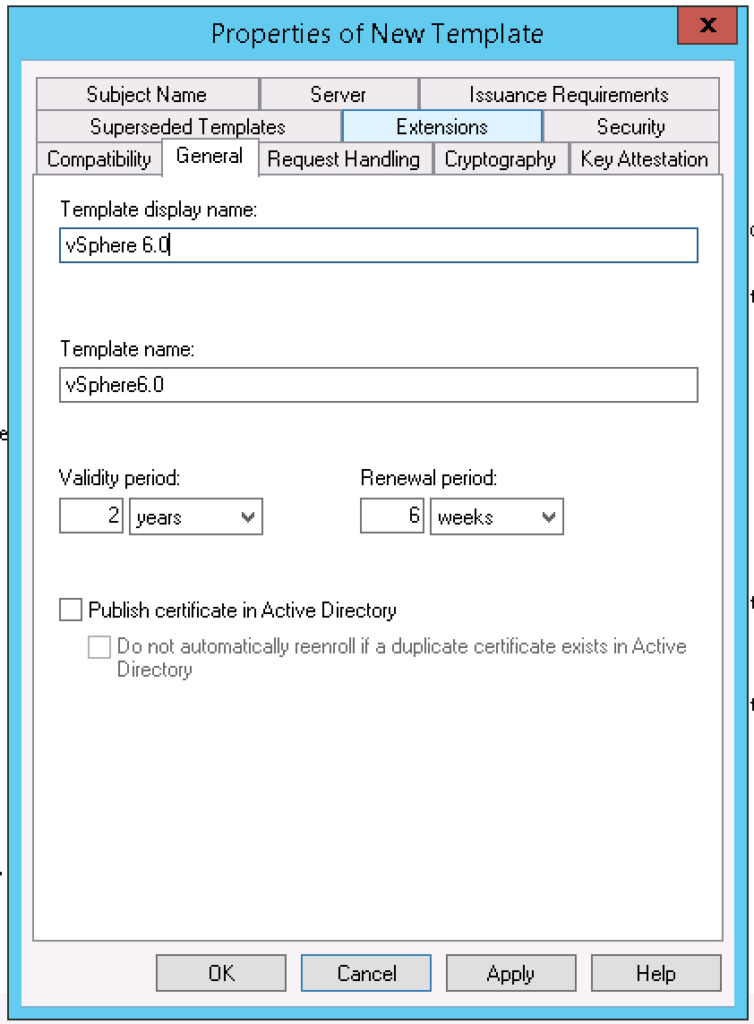 Creating A Vsphere  Certificate Template In Active Directory  Blah With Active Directory Certificate Templates