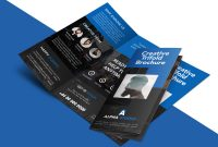 Creative Agency Trifold Brochure Free Psd Template  Psdfreebies within 3 Fold Brochure Template Psd
