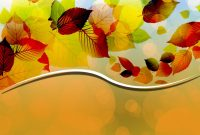 Creative Autumn Leaves Vector Backgrounds For Powerpoint  Flower pertaining to Free Fall Powerpoint Templates