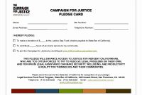 Creative Donation Pledge Form Template  Example Design Template pertaining to Donation Cards Template