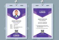 Creative Id Card Template Stock Vector Illustration Of Conference for Conference Id Card Template