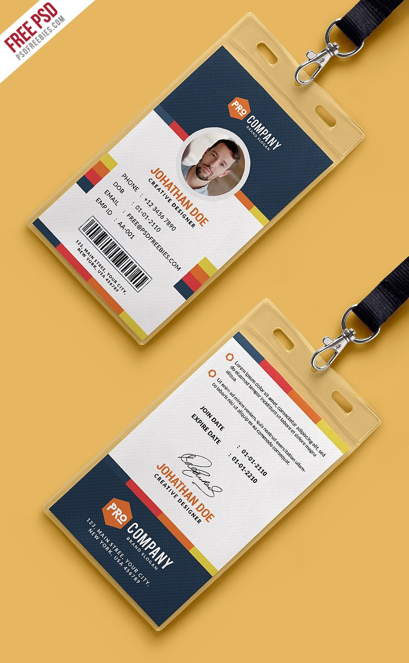 Creative Office Identity Card Template Psd  Psdfreebies Pertaining To Id Card Design Template Psd Free Download