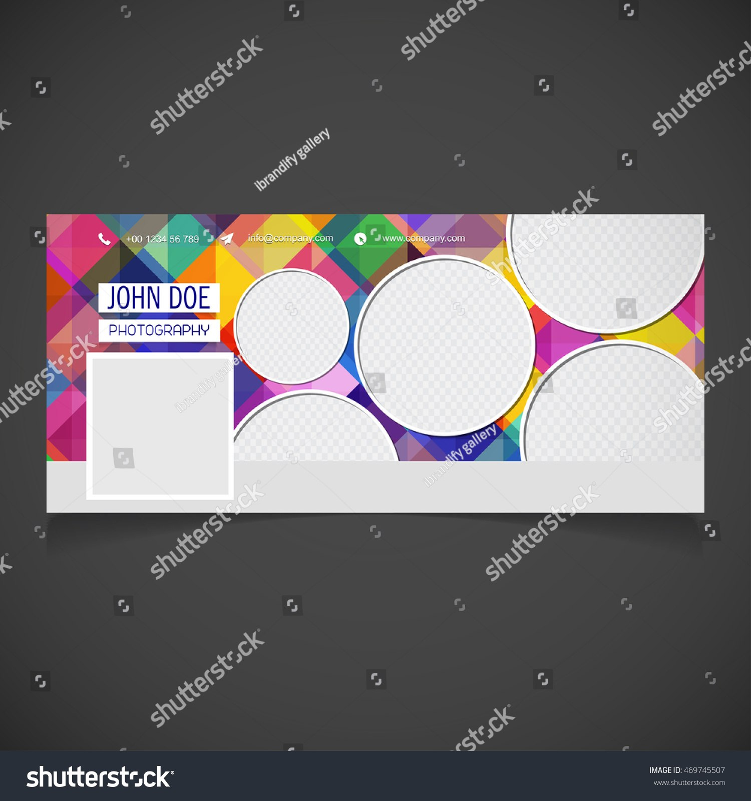 Creative Photography Banner Template Place Image Stockvektorgrafik Within Photography Banner Template