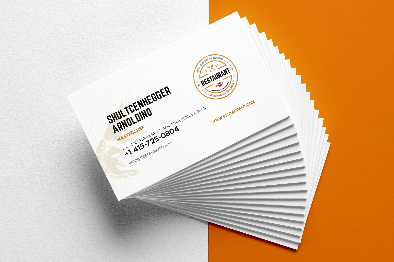 Creative Restaurant Business Card Templates  Ai Apple Pages Regarding Pages Business Card Template
