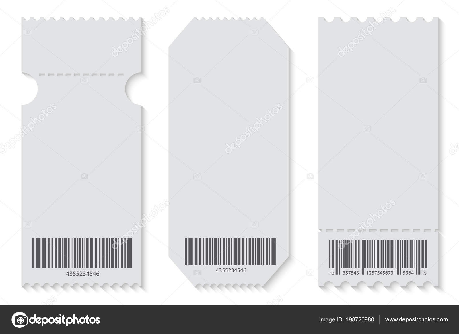 Creative Vector Illustration Of Empty Ticket Template Mockup Set With Regard To Blank Train Ticket Template
