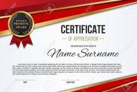 Creative Vector Illustration Of Stylish Certificate Template inside Mock Certificate Template