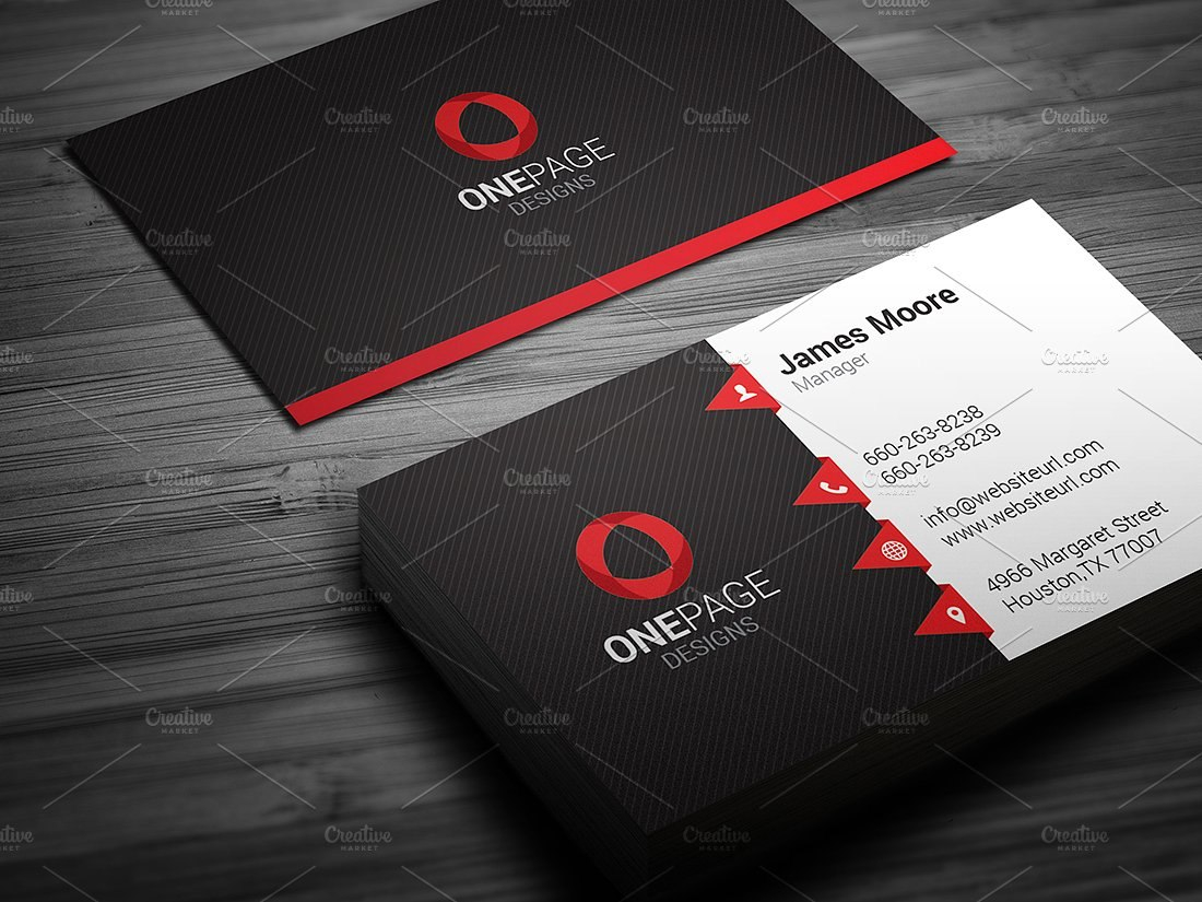 Creativeblackandredbusinesscardtemplatewithvectorred With Regard To Buisness Card Templates