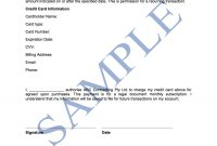 Credit Card Authorisation Form  Free Template  Sample  Lawpath inside Credit Card Authorisation Form Template Australia