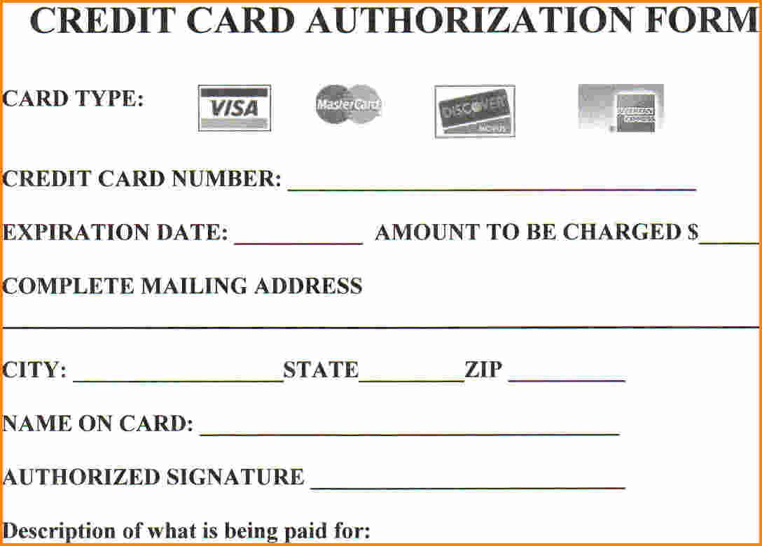 Credit Card Authorization Form Pdf  Template Business With Regard To Credit Card Payment Slip Template