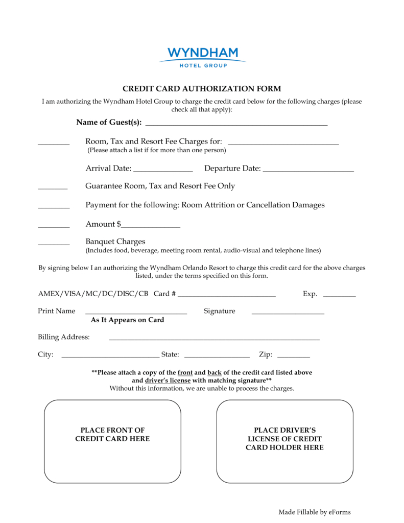 Credit Card Authorization Form Template Download Pdf Word With Regard To Credit Card Billing Authorization Form Template